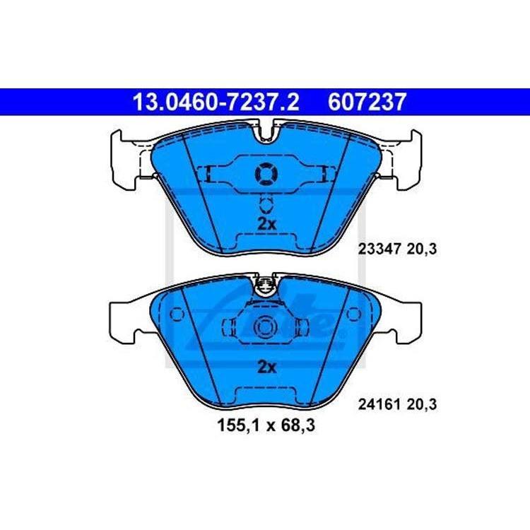 2 ATE Bremsscheiben vorne 348mm BMW 3 X1