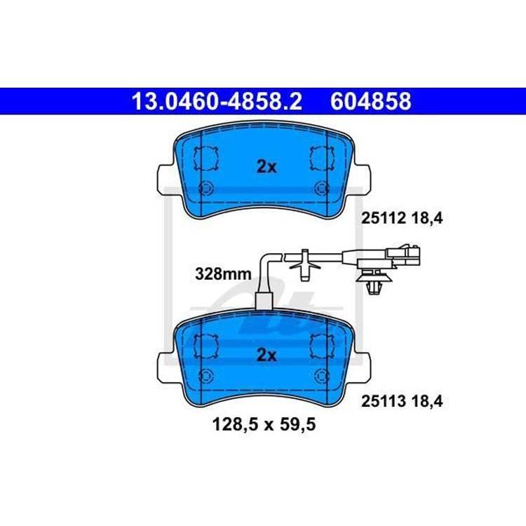 ATE Bremsscheiben 305mm Bremsbeläge hinten Nissan Nv400 Opel Movano Renault Ma