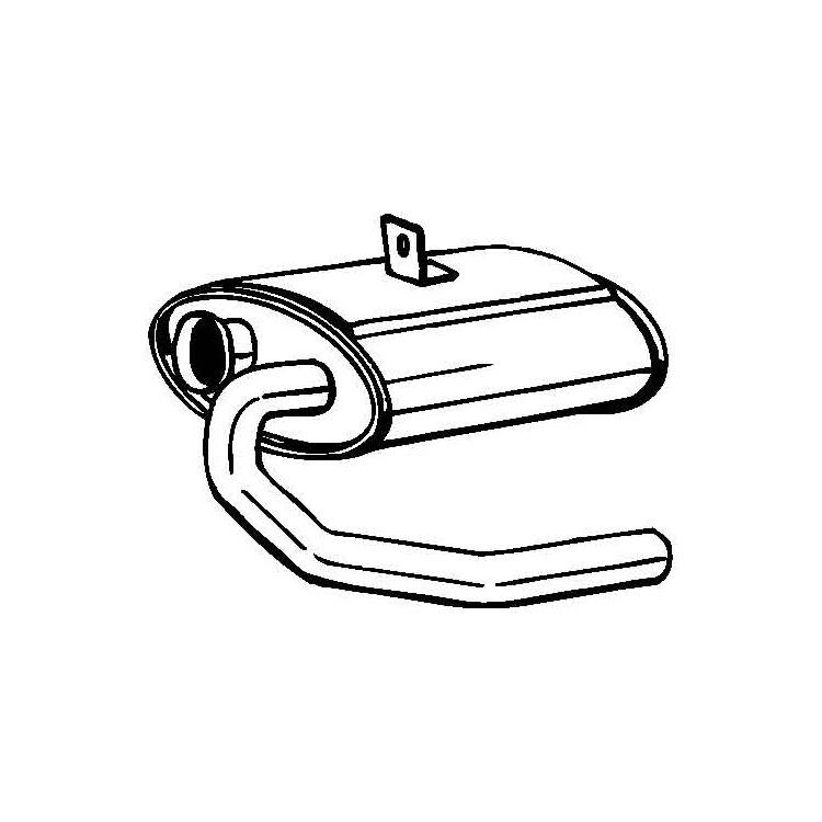 Vorschalldämpfer Mercedes T1