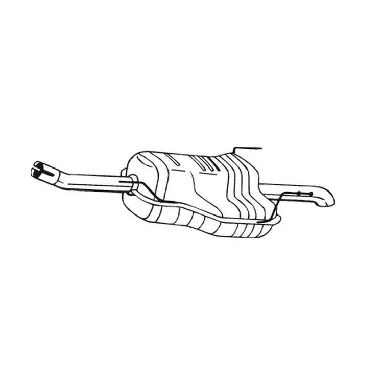 Endschalldämpfer Opel Zafira 1,8 16V ab 09/03