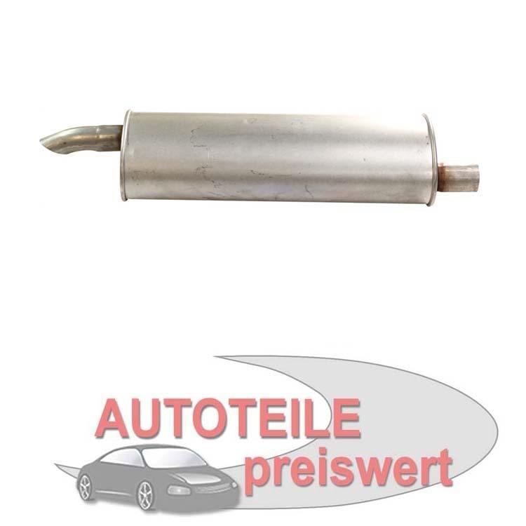 Endschalldämpfer Opel Astra F Kadett E CC Schrägheck Cabrio