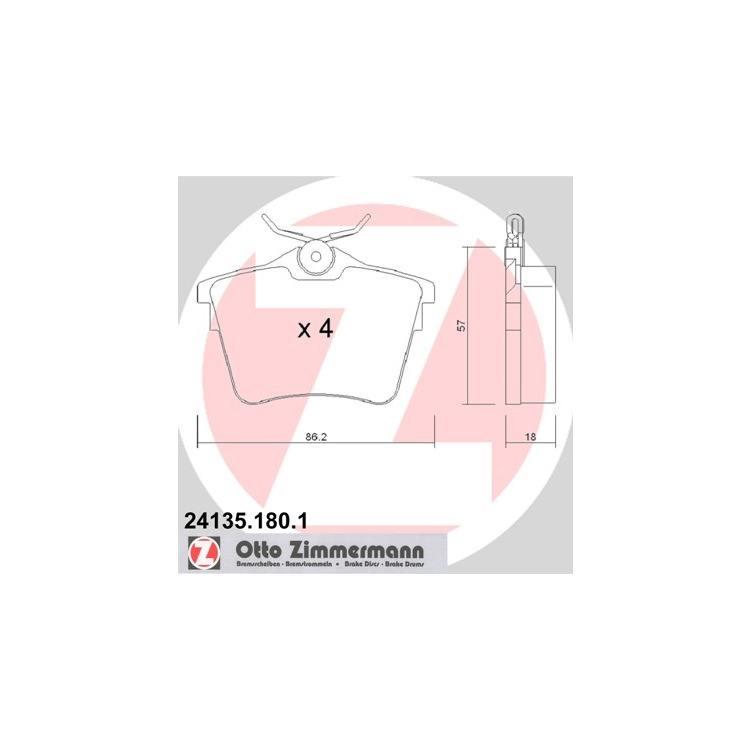 Zimmermann Bremsscheiben + Bremsbeläge hinten 440.3112.20 24135 online günstig Autoteile kaufen