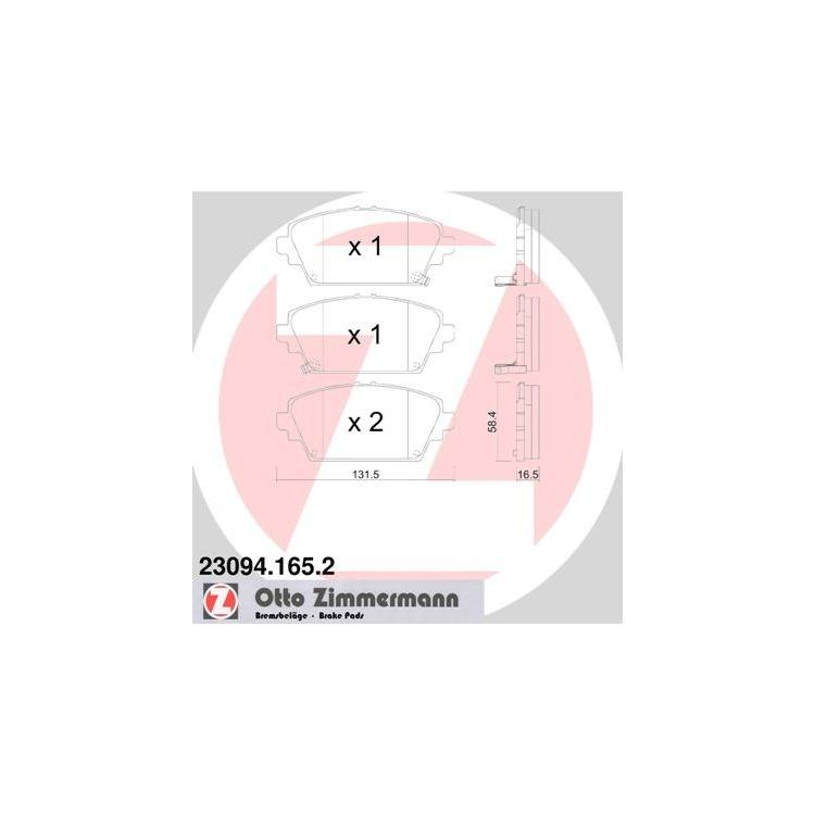 Zimmermann Bremsbeläge vorne Honda Accord VI MG ZR Nissan Almera Tino Primera