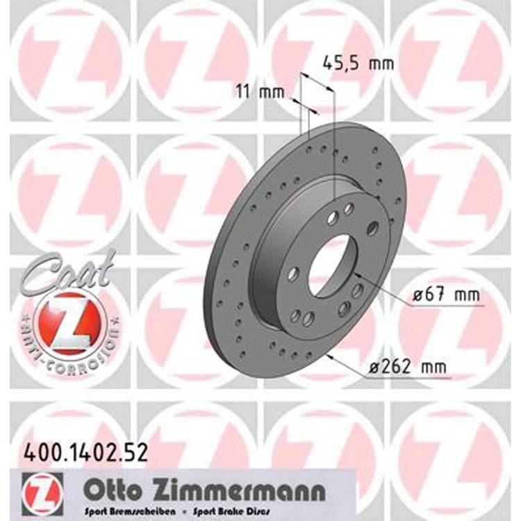 2 Zimmermann Sportbremsscheiben vorne  Mercedes W201 190er
