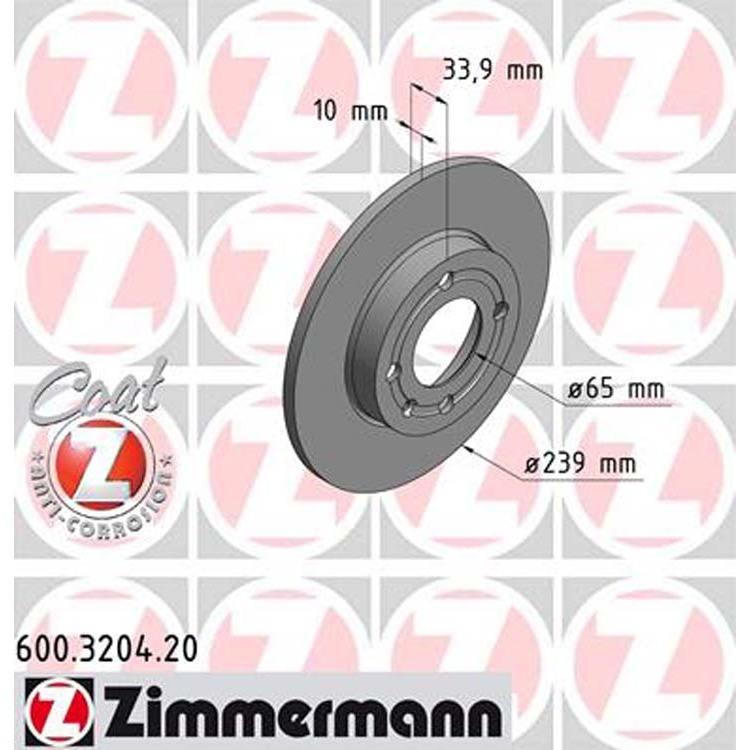 2 Zimmermann Bremsscheiben 239mm vorne Seat Arosa VW Polo 6N