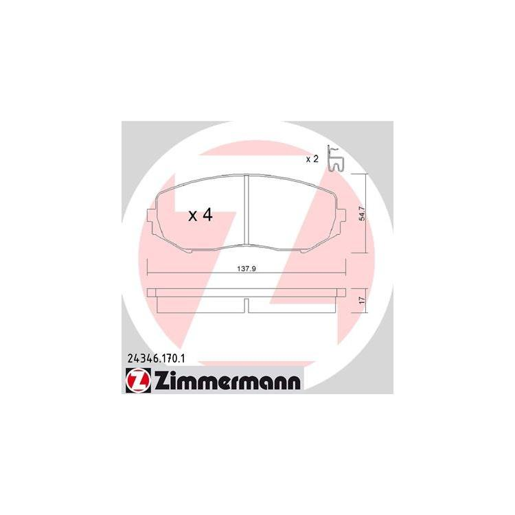 Zimmermann Bremsbeläge vorne Suzuki Grand Vitara II Allrad