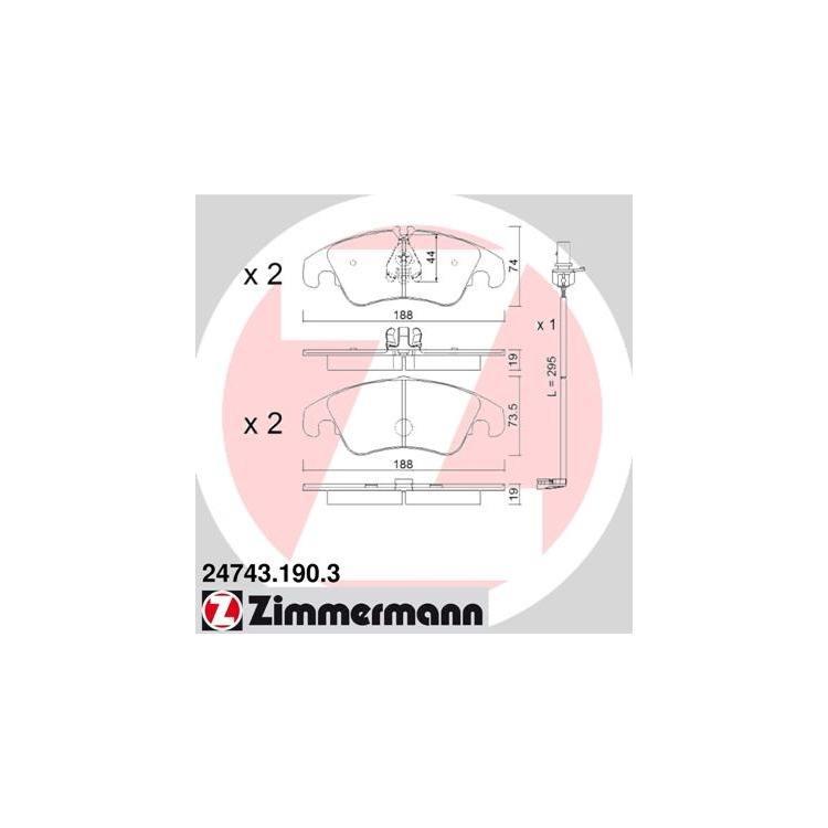 Zimmermann Sport-Bremsscheiben + Bremsbeläge vorne Audi A4 + A5 PR 1LA Bj. bis 06/2011