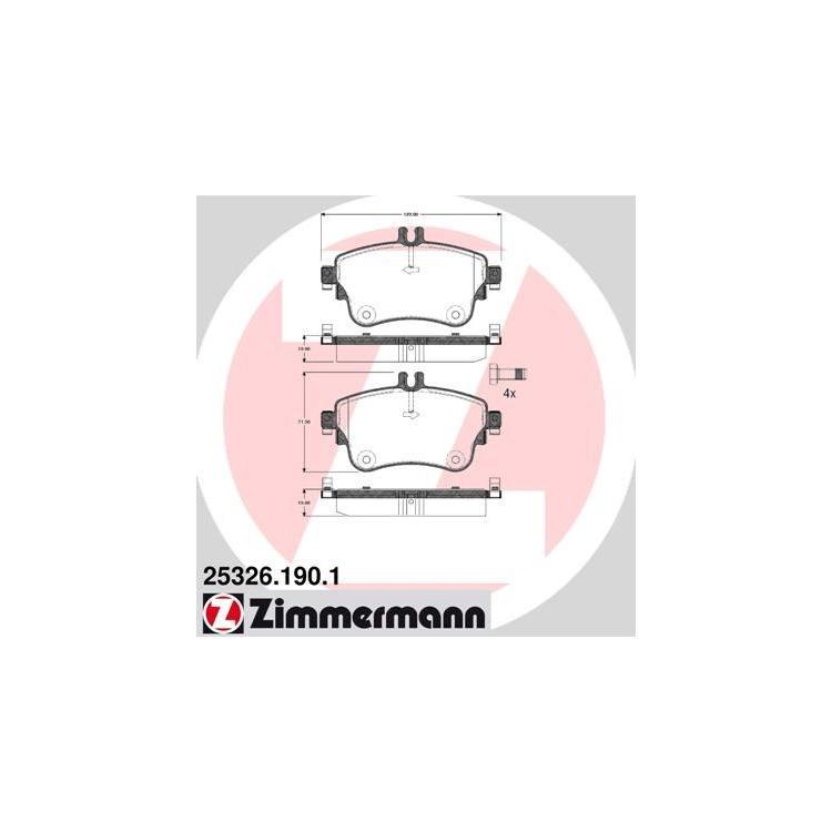 Zimmermann Bremsscheiben + Bremsbeläge vorne Mercedes B-Klasse  180 + CDI