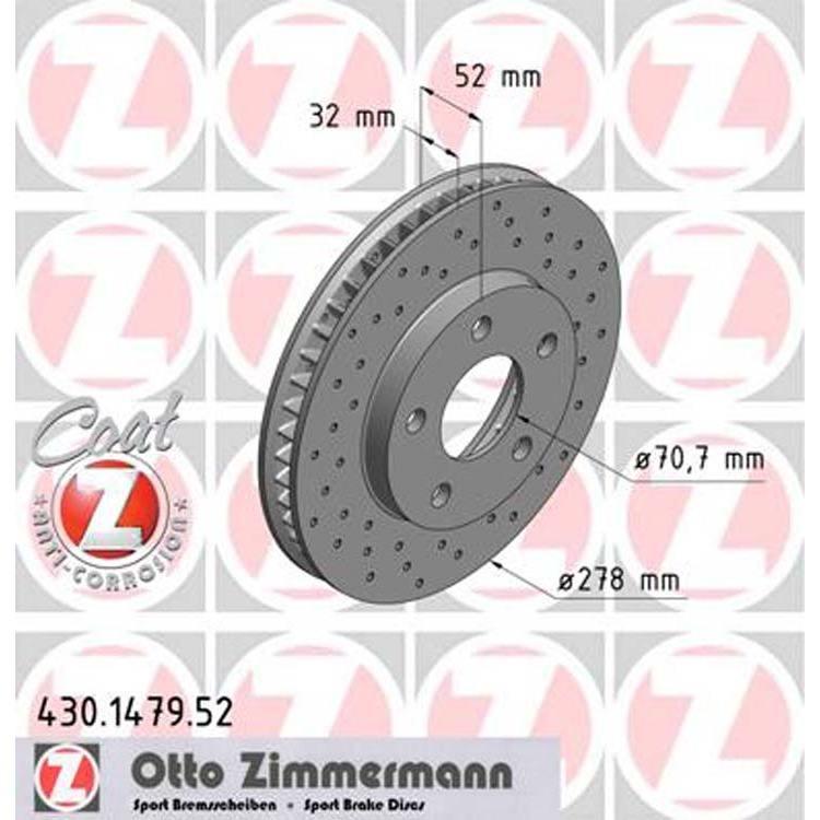 Zimmermann Sportbremsscheiben vorne Opel Sintra