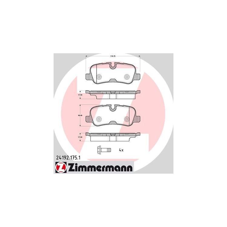 Zimmermann Bremsscheiben + Bremsbeläge hinten Land Rover Range Rover III 3,0-4,4 TD 6 8 + 4x4