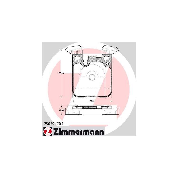 Zimmermann Bremsscheiben + Bremsbeläge hinten BMW 3er F30 4er
