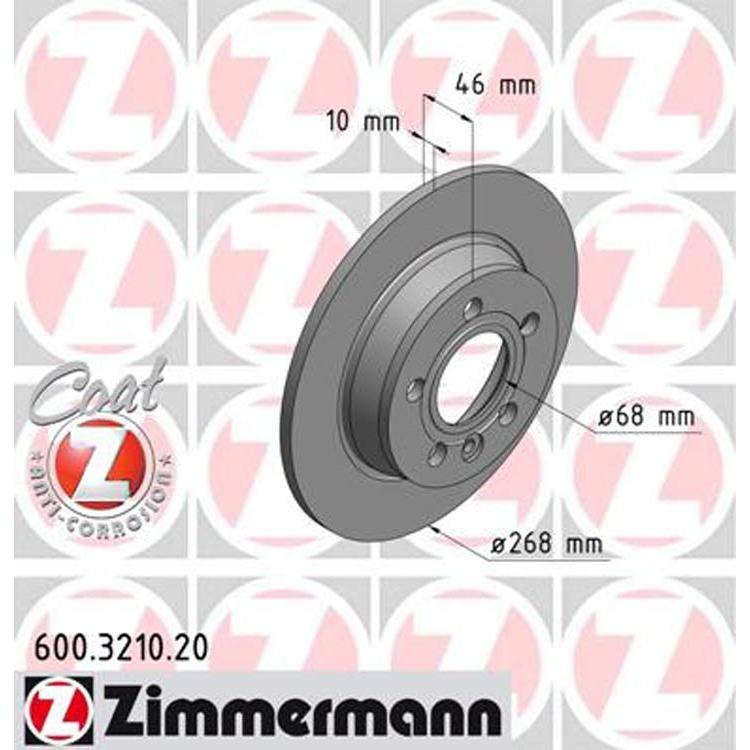 1 Zimmermann Bremsscheibe Ford Galaxy Seat Alhambra VW Sharan bei Autoteile Preiswert