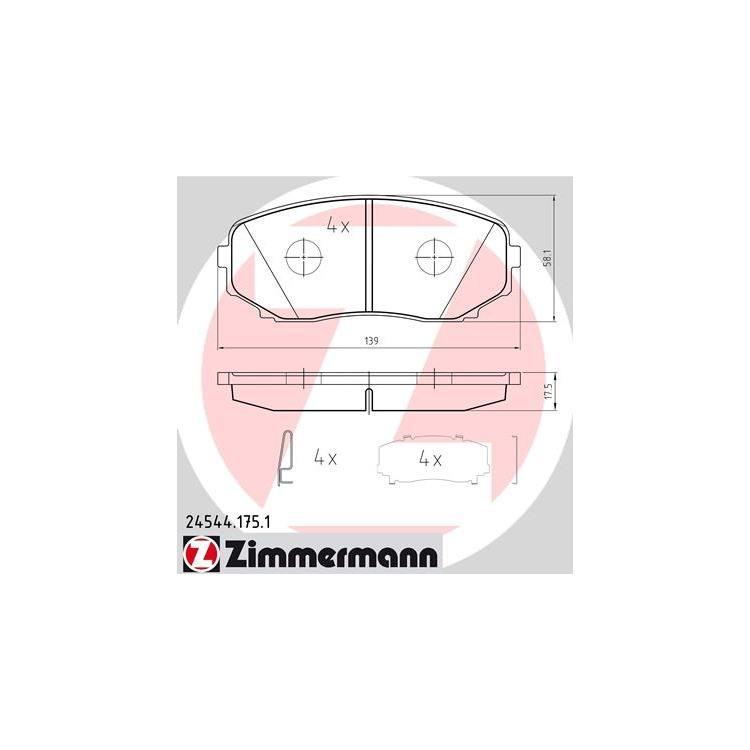 Zimmermann Bremsbeläge vorne Mazda CX-7 CX-9