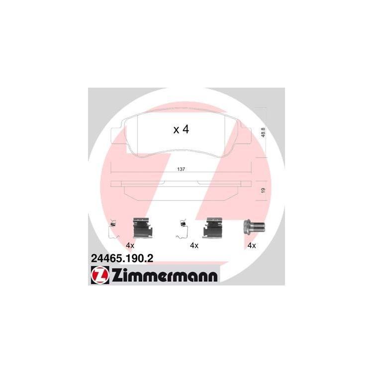 "Zimmermann Bremsscheiben + Bremsbeläge hinten Citroen Fiat Peugeot 1,6t mit 15"" Felgen"