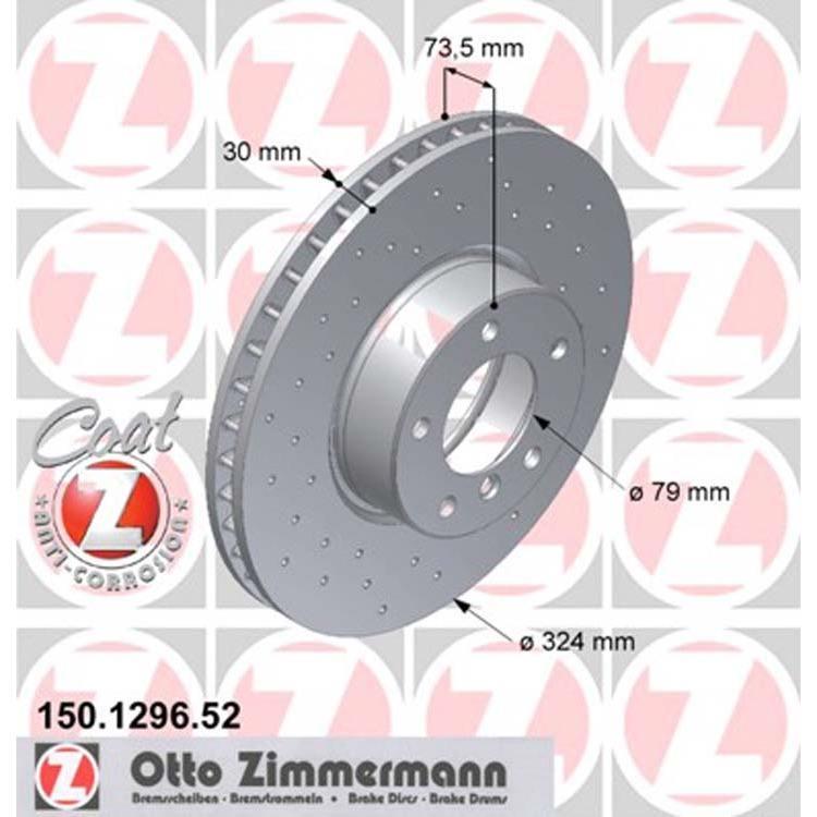 2 Zimmermann Sportbremsscheiben vorne BMW E39