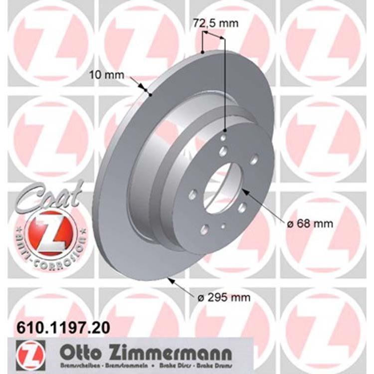 2 Zimmermann Bremsscheiben 295mm hinten Volvo 850 C70 S70 V70