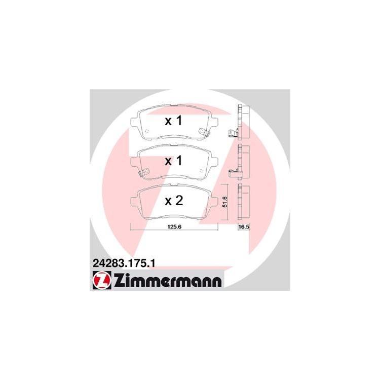 Zimmermann Bremsbeläge vorne Mazda 2 Suzuki Swift