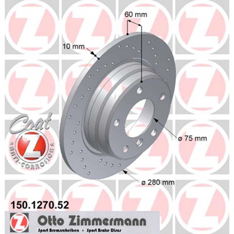 2 Zimmermann Sportbremsscheiben 280mm hinten BMW E36 E46