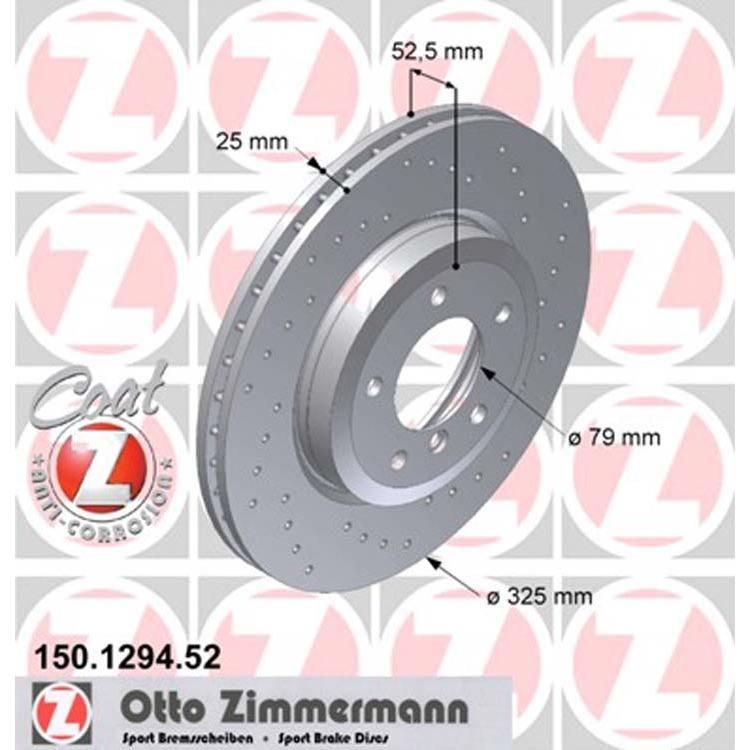 Zimmermann Sportbremsscheiben vorne BMW 3er E46 325 330