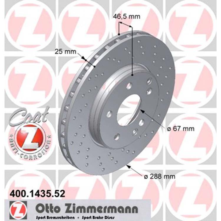 2 Zimmermann Sportbremsscheiben vorne Mercedes CLK SLK R170 W202 W203 W210