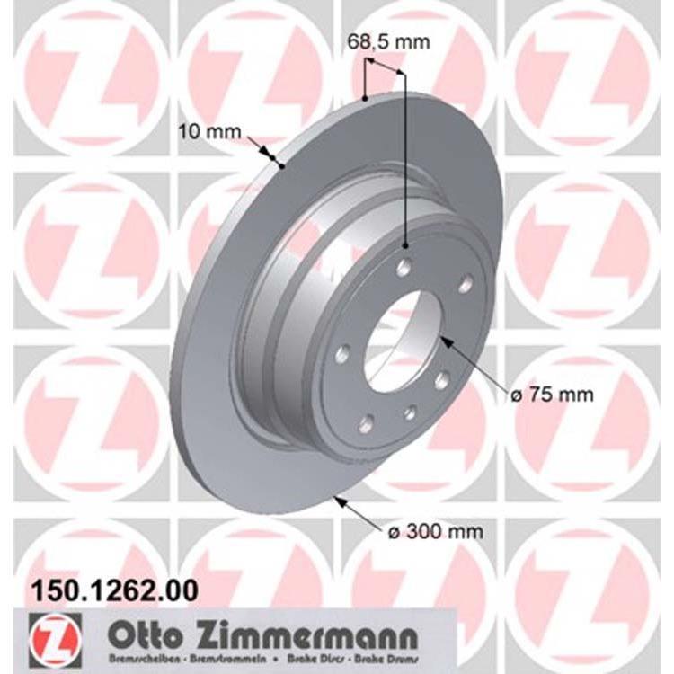 2 Zimmermann Bremsscheiben 300mm hinten 150.1262.00 online günstig Autoteile kaufen