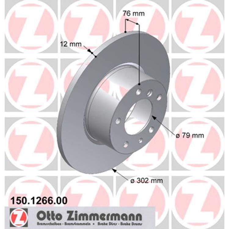 2 Zimmermann Bremsscheiben 302mm vorne BMW E34 518 520 524 525