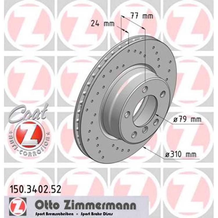 Zimmermann Sportbremsscheiben vorne BMW 5er E60