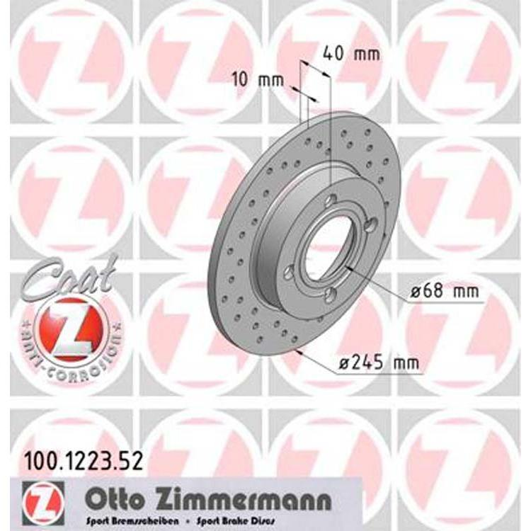 2 Zimmermann Sportbremsscheiben hinten Audi 80 90