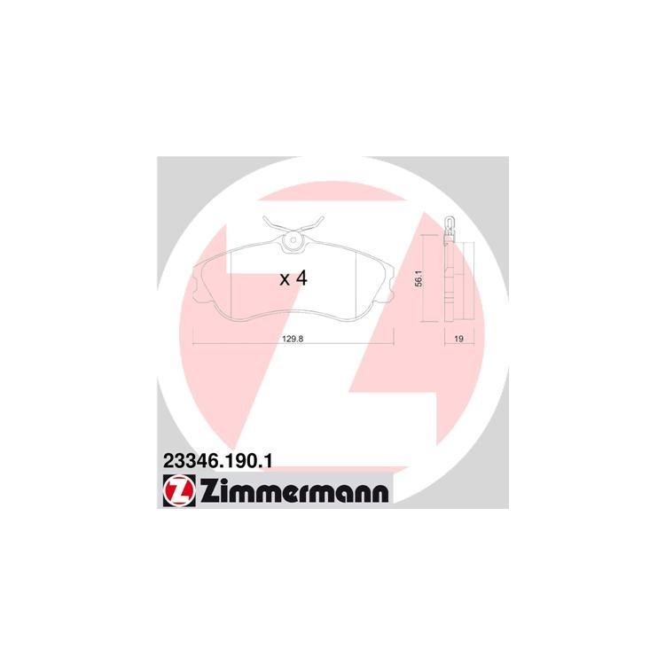 Zimmermann Bremsbeläge vorne 23346.190.1 bei Autoteile Preiswert