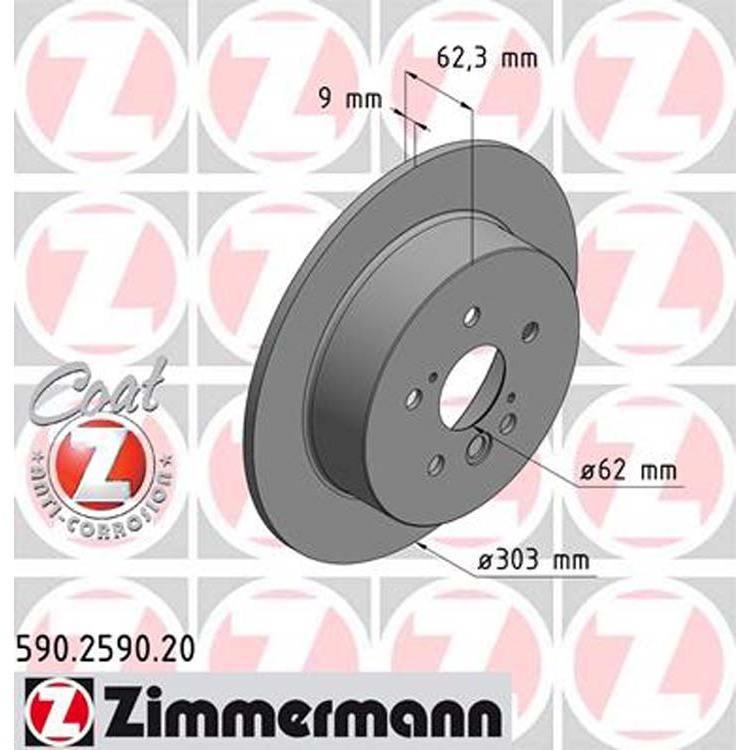 2 Zimmermann Bremsscheiben 303mm hinten 590.2590.20 online günstig Autoteile kaufen