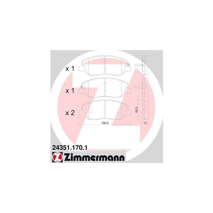 Zimmermann Sportbremsscheiben + Bremsbeläge vorne Hyundai Santa Fe Kia Sorento