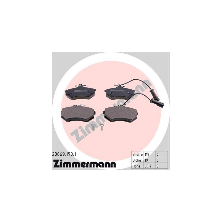 Zimmermann Bremsscheiben + Bremsbeläge vorne Audi 80 100 + Avant 1,8 2,0