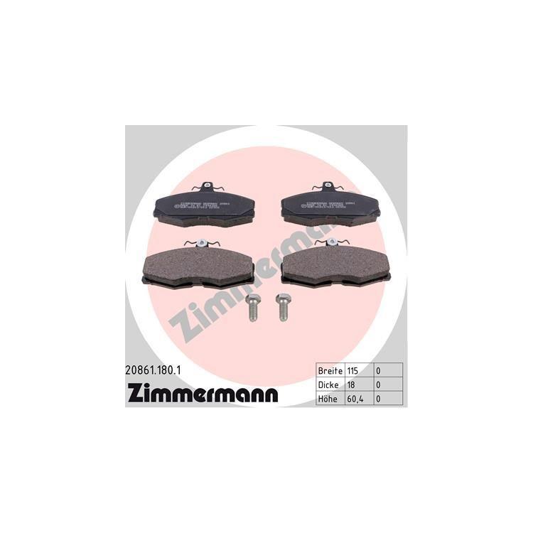 Zimmermann Bremsbeläge vorne 20861.180.1 bei Autoteile Preiswert