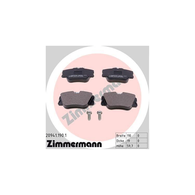 Zimmermann Sportbremsscheiben + Bremsbeläge vorne Mercedes E-Klasse + Kombi Coupe Cabrio