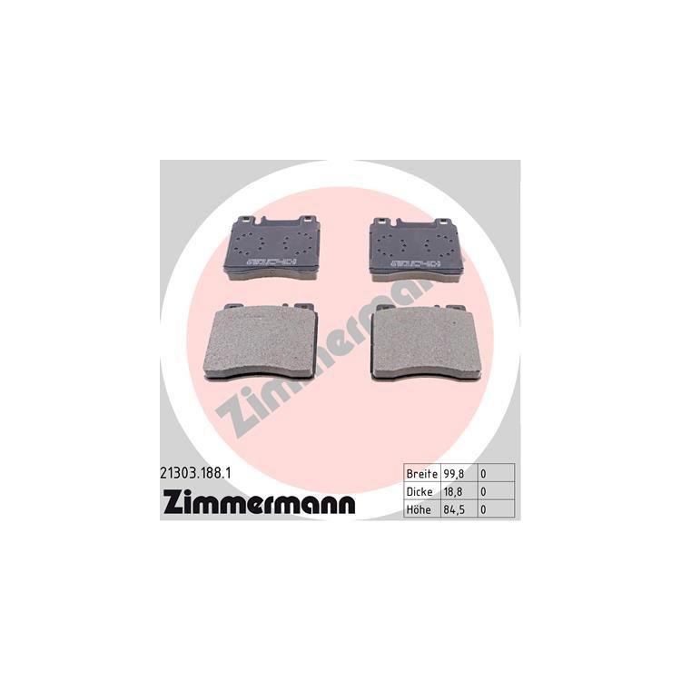 Zimmermann Sportbremsscheiben + Bremsbeläge vorne Mercedes W140 S 280 - 420 S SE