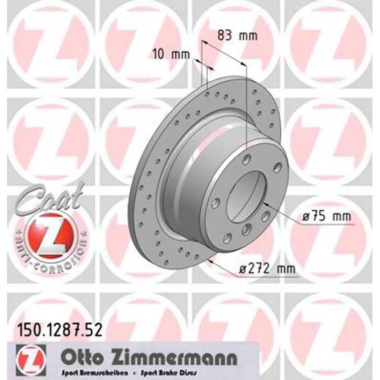 2 Zimmermann Sportbremsscheiben hinten BMW Z3
