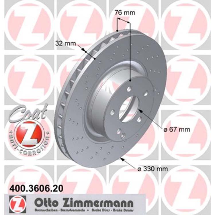2 Zimmermann Bremsscheiben 330mm vorne Mercedes S-Klasse W220