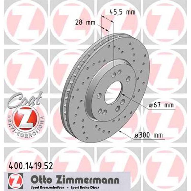 2 Zimmermann Sportbremsscheiben 300mm vorne 400.1419.52 online günstig Autoteile kaufen