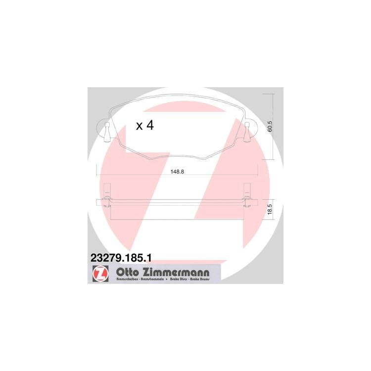 Zimmermann Sportbremsscheiben + Bremsbeläge vorne Ford Mondeo 3 1,8 - 3,0