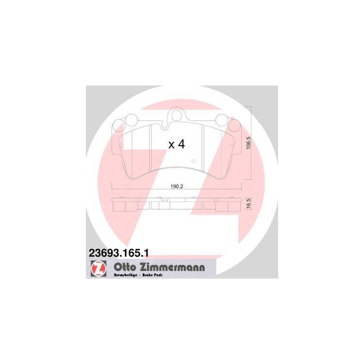 Zimmermann Bremsscheiben + Bremsbeläge VA+HA 600.3226. 3229 JETZT SPAREN !