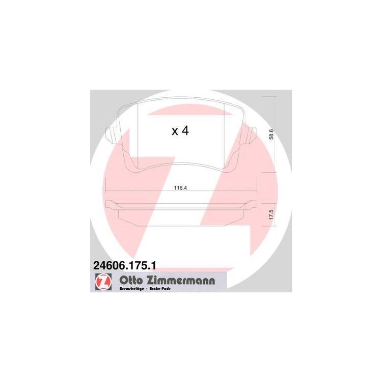 Zimmermann Bremsscheiben + Bremsbeläge hinten Audi A5 RS5 quattro