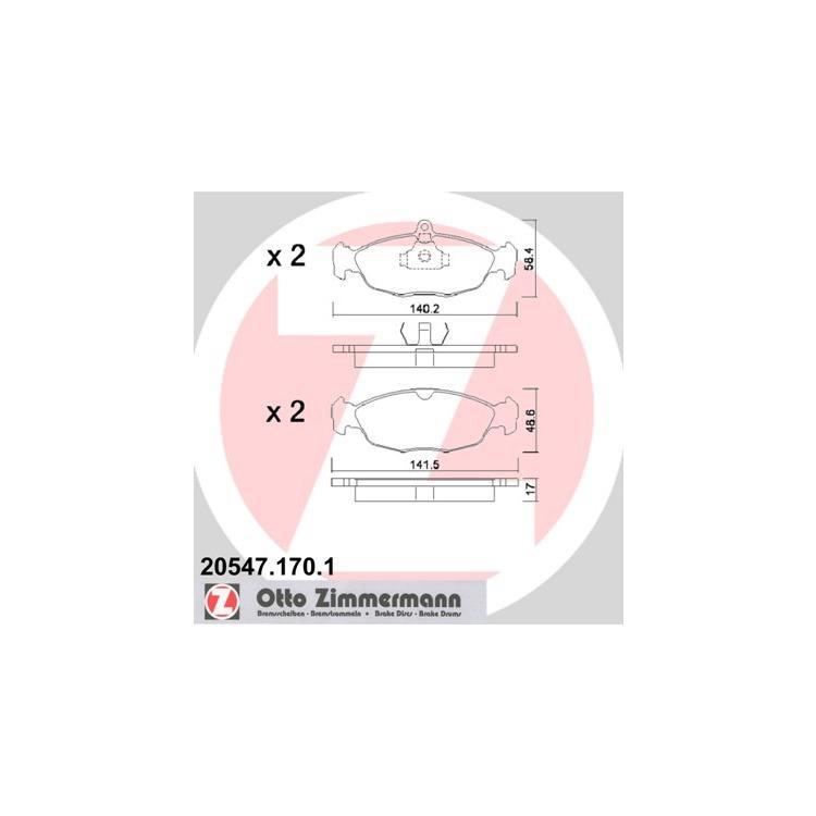 Zimmermann Bremsscheiben + Bremsbeläge vorne Opel Astra F Corsa B Vectra A