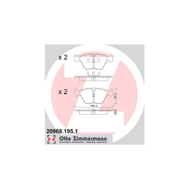 Zimmermann Bremsscheiben + Bremsbeläge vorne BMW E34 518-524