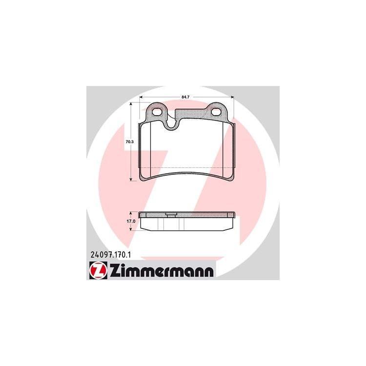 Zimmermann Bremsbeläge hinten VW Touareg R5 R50 V6 V8 W12 1KQ