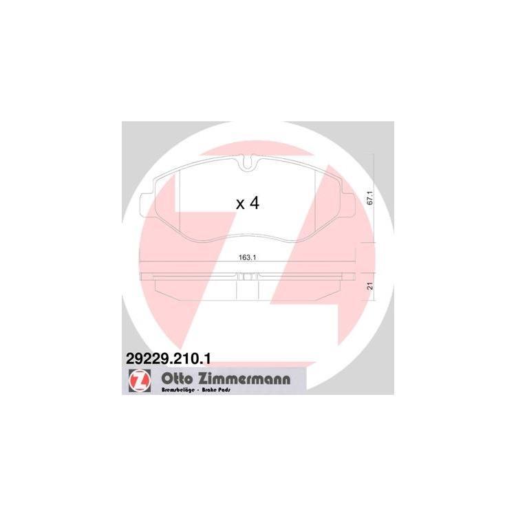 Zimmermann Bremsbeläge vorne Iveco Daily 4 5