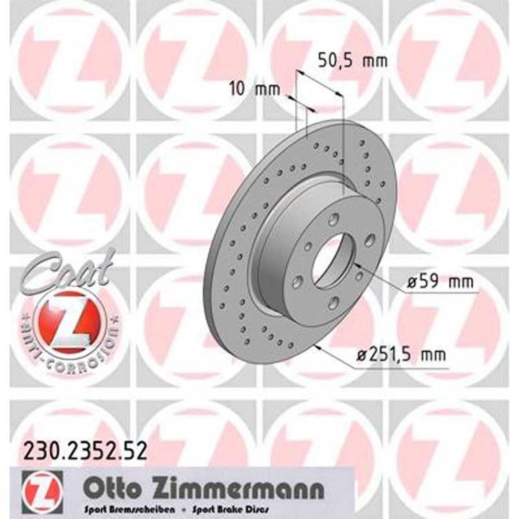 2 Zimmermann Sportbremsscheiben hinten Alfa Romeo Fiat Lancia
