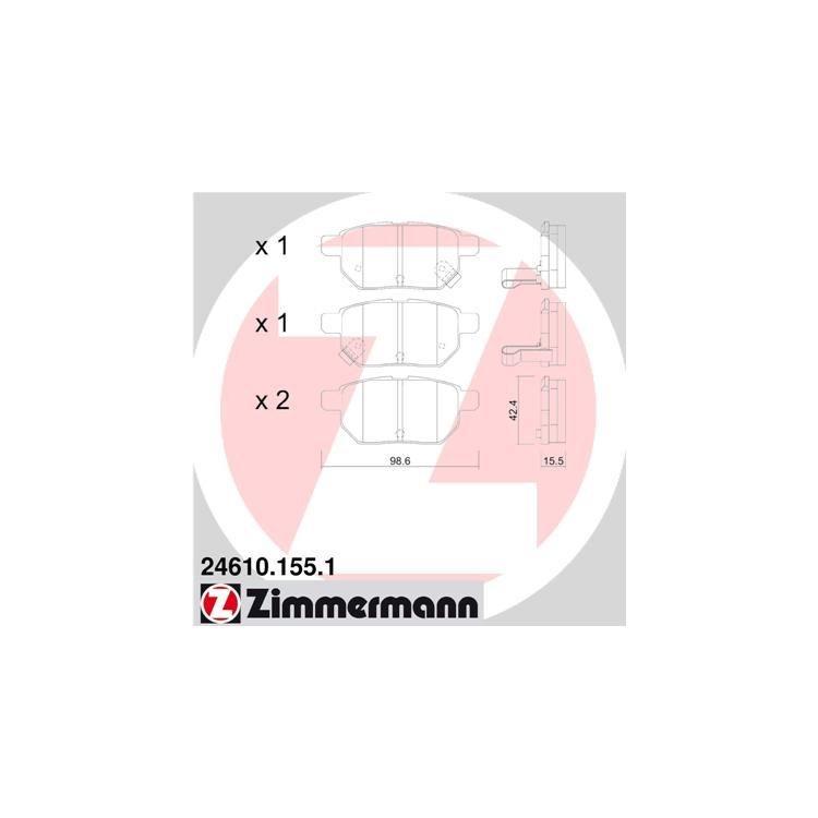 Zimmermann Bremsbeläge hinten 24610.155.1 bei Autoteile Preiswert