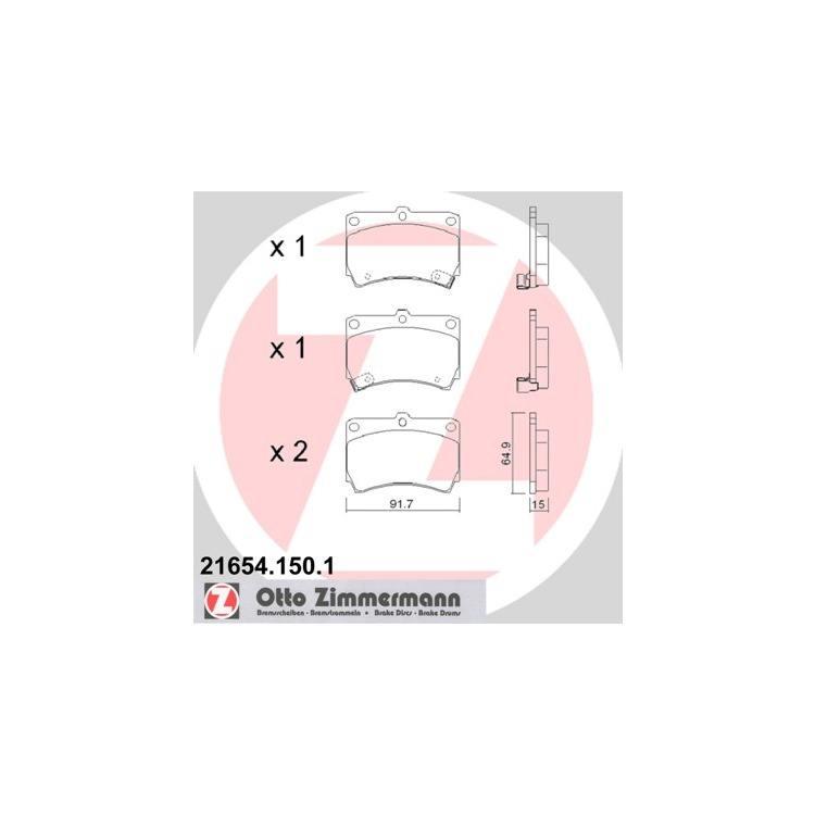 Zimmermann Bremsbeläge vorne Kia Rio Mazda 121 323 BG BA Demio