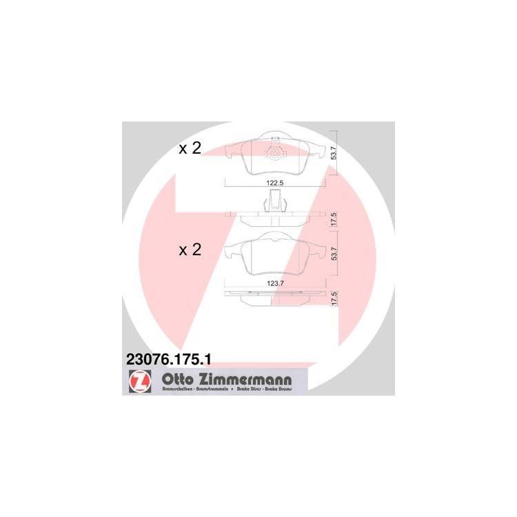 Zimmermann Bremsbeläge hinten 23076.175.1 bei Autoteile Preiswert