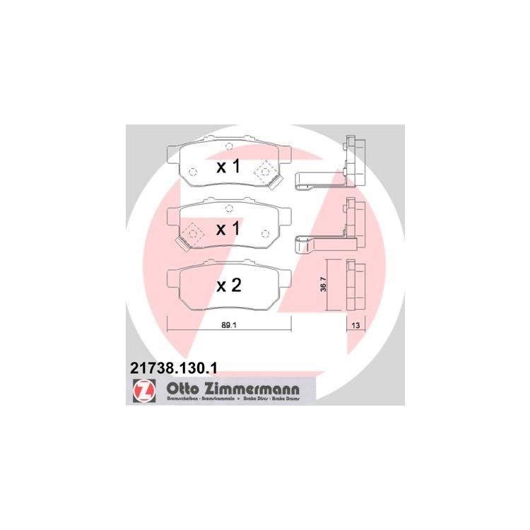 Zimmermann Bremsscheiben + Bremsbeläge hinten Honda Jazz 1,2 1,4